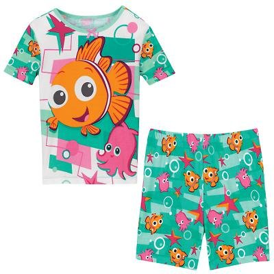 NEW Disney Store Nemo & Pearl PJ Pals Short Pajamas size 2