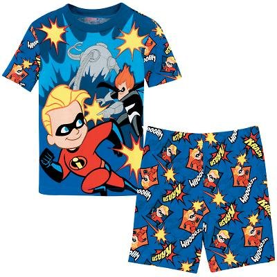NEW Disney Store Dash & Syndrome PJ Pals Short Pajamas size 8