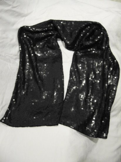$135 NEW Black Blumarine Sequined Scarf - Shawl