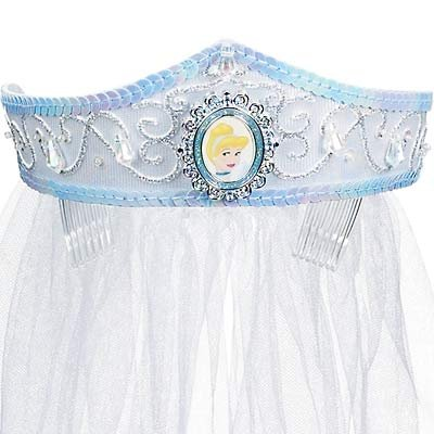 NEW Disney Cinderella Deluxe Wedding Crown with Veil