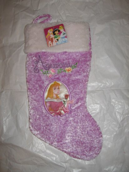 Disney Christmas Stocking Princess AURORA -- NEW with Overnight shipping