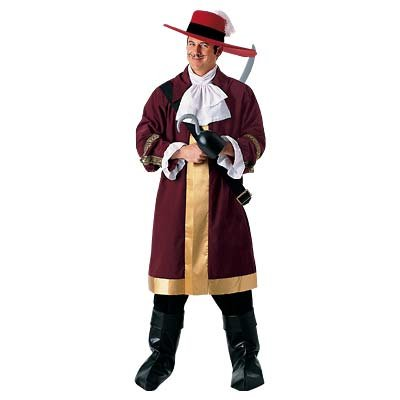 New Disney Captain Hook Costume for Grown-Ups, Size L  - Free Shipping on this item!