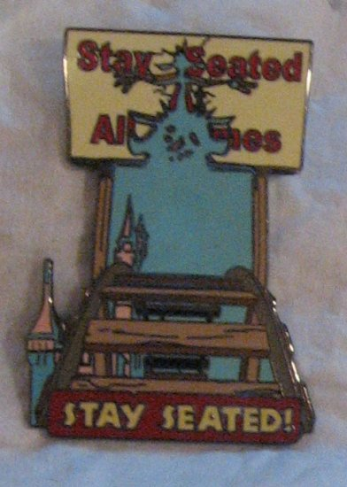 Disney Pins : Wild about Safety -  Stay Seated at All Times Pin