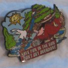 Disney Pins : Wild about Safety -  Have Fun In The Sun, Don't Get Overdone Pin