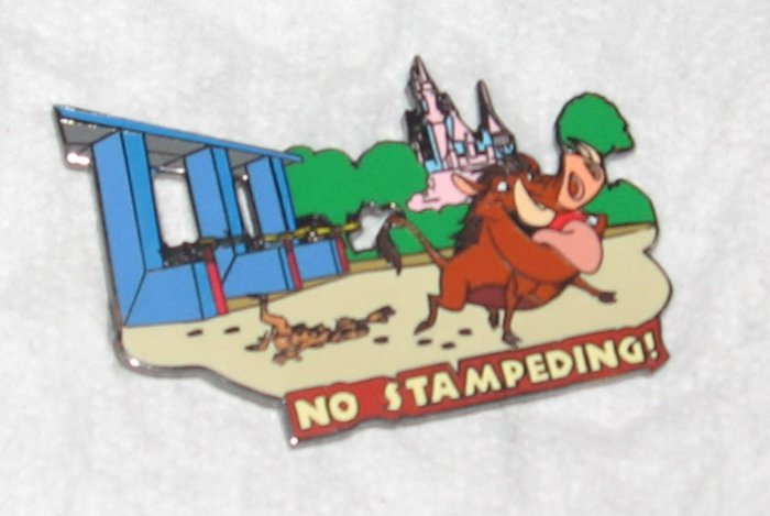 Disney Pins :  Wild about Safety -  No Stampeding Pin
