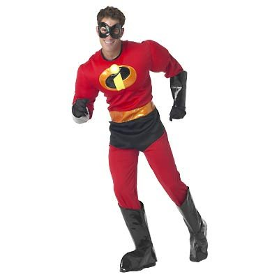 New Disney Mr. Incredible Costume for Men, Size L  - Free Shipping on this item!