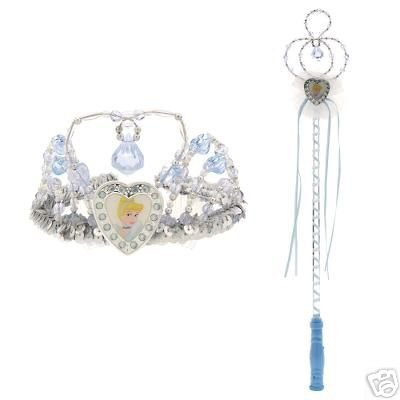 New Disney Cinderella Crown & Wand Set - Free shipping!