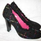 $190 New Apepazza Womens Black Pump Heel Shoes size 37 - Free shipping