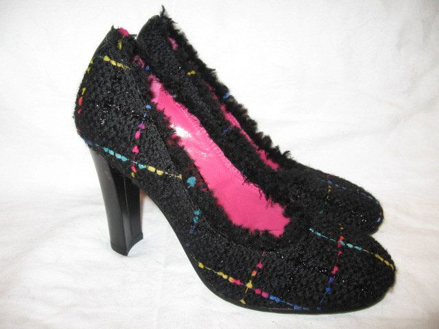 $190 New Apepazza Womens Black Pump Heel Shoes size 38 - Free shipping