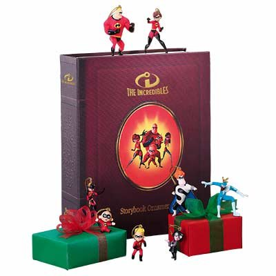 New Disney ''The Incredibles'' Storybook Ornament Set