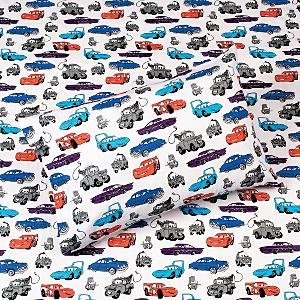 New Disney  Cars Twin Flannel Sheet Set