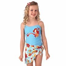 New Disney Ariel Tank Swimsuit with Sarong, size 4T  - Free Shipping!