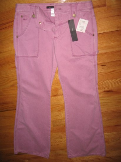 $180 New Marc Jacobs Womens  Pink Jeans Pants, size 8