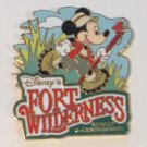 Disney Pins : Fort Wilderness Resort with Hiking Mickey Pin