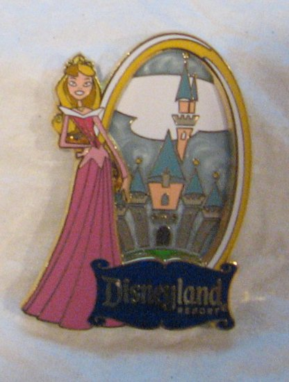 Disney Pins : Disneyland Resort , Modern Aurora with Modern Castle (Susan Foy) Pin