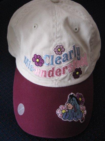 New Disney Store Cotton CAP - Eeyore - Clearly Mis-understood -  Women