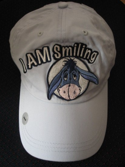 New Disney Store Cotton CAP - Eeyore - I AM Smiling-  Women