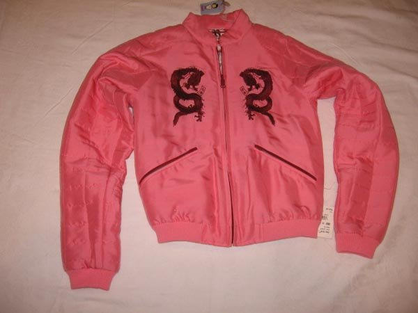 $245 New RING SPUN Silk Girl's JACKET size 1