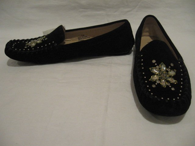 $150 NEW MICHAEL KORS Black LOAFERS Womens SHOES  size 7.5 M