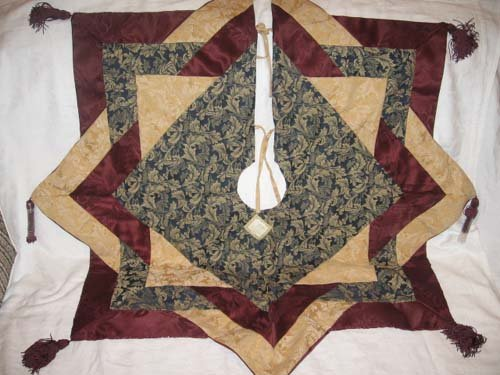 "$100 New CHRISTMAS HOLIDAY TREE SKIRT 45""x45"" - Handcrafted !"