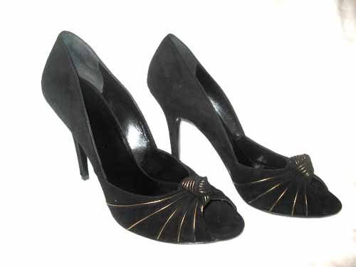 $560 New in Box Authentic GUCCI Women DRESS HEEL PUMPS Shoes SUEDE size 10.5  10 1/2 B