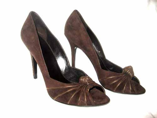 $560 New in Box Authentic GUCCI Women DRESS HEEL PUMPS Shoes SUEDE sz 9