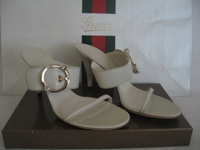 $440 New in Box Authentic GUCCI Women SHOES Slides Heels Mules size 10 B - FREE SHIPPING