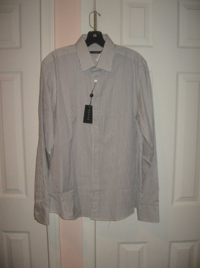 New with TAG Authentic GUCCI MEN's SHIRTS with LONG SLEEVES sz 17  / 43 - FREE SHIPPING!