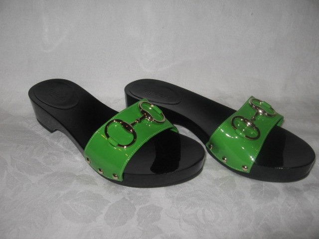 $395 New in Box Authentic GUCCI Women MULE SLIDES SHOES HORSEBIT 2008 size 5.5 B  5 1/2 B