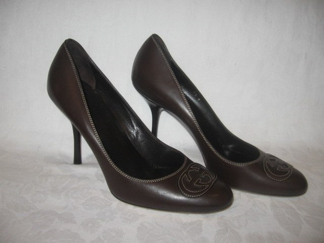 $550 New in Box  Authentic GUCCI Women HEELS PUMPS Shoes size 9.5  9 1/2 B - FREE SHIPPING