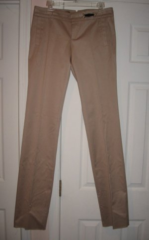 $695 New with TAG Authentic GUCCI WOMEN PANTS BAMBOO element  size 44 ITALY- FREE SHIPPING.