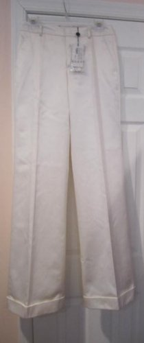 $795 New with TAG Authentic GUCCI WOMEN PANTS white sz 40 ITALY- FREE SHIPPING.