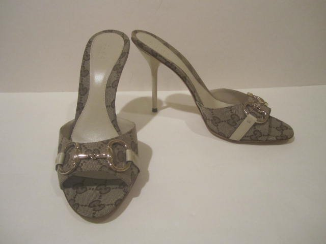 New in Box  Authentic GUCCI SLIDES SHOES HEELS HOLLYWOOD size 8.5 8 1/2 - FREE SHIPPING
