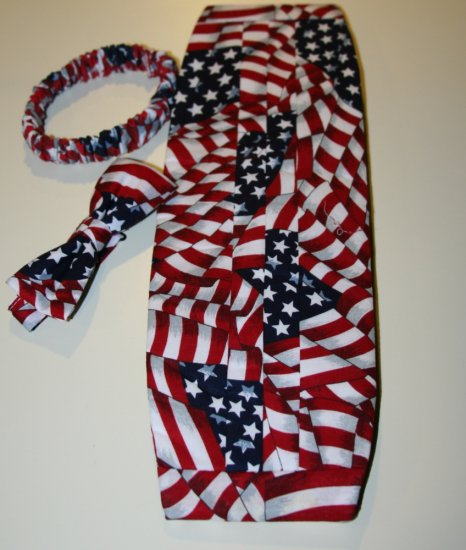 Old Glory American Flag Cummerbund and Bow Tie | eBay