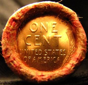 UNSEARCHED SHOTGUN PENNY CENT ROLL Wheat BU / Wheat BU