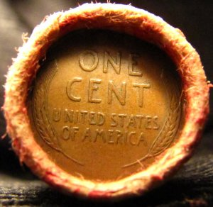 UNSEARCHED SHOTGUN PENNY CENT ROLL Wheat / Wheat Tails