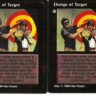 Change of Target X2 VtES Jyhad Vampire CCG Trading Card