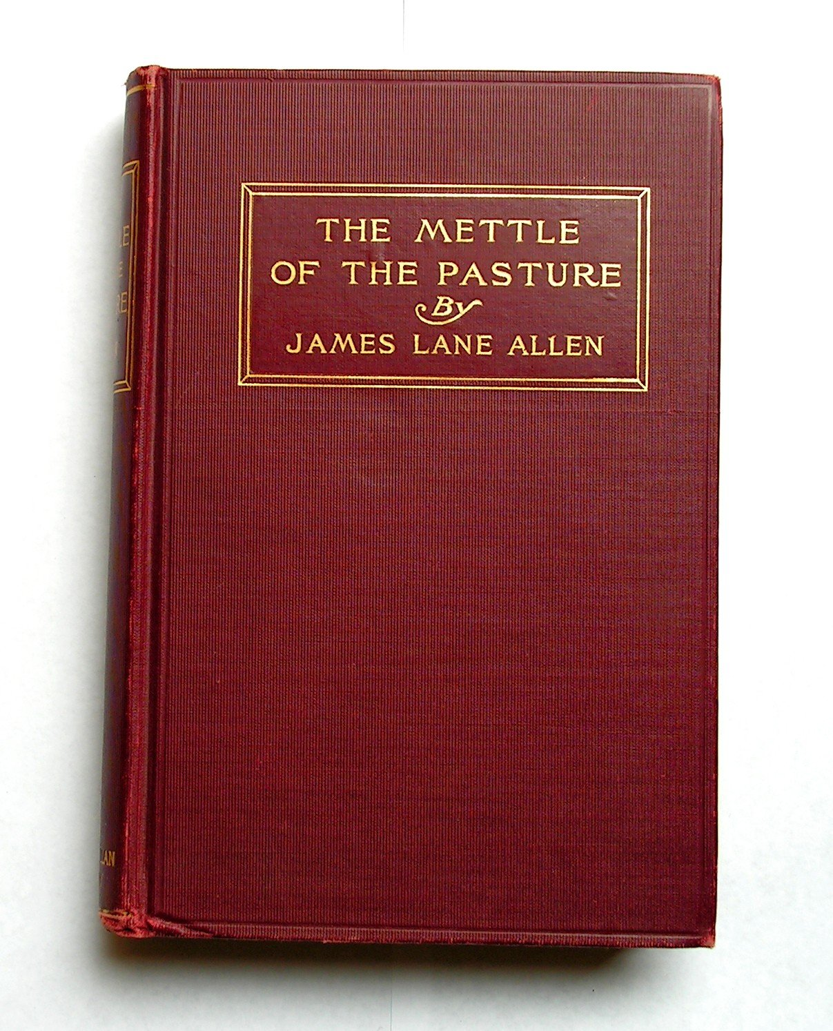 1903 The Mettle of the Pasture - James Lane Allen