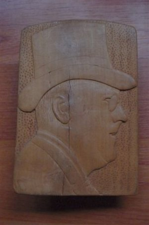 Vintage Franklin D. Roosevelt  Wood Carving-SALE