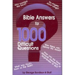 Bible Answers For 1000 Difficult Questions-SALE