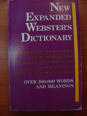 New Expanded Webster's Dictionary 1990-SALE
