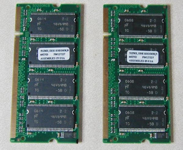 Laptop Memory PC 4200 1 GB DDR-FREE SHIPPING