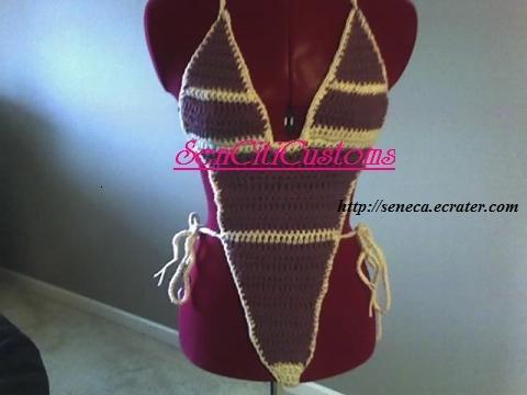 Stripes Crochet  One-Piece