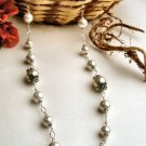N0524 - NECKLACE WITH BEAUTIFUL WHITE SHELL BEADS (FREE EARRINGS)