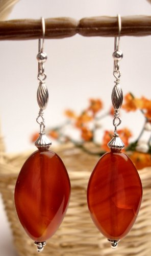 E0028 - EARRINGS WITH AUTHENTIC AVENTURINE (FREE SHIPPING)