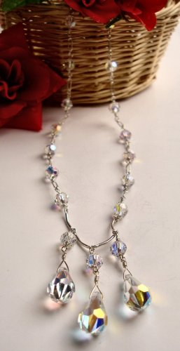 N0605 - NECKLACE WITH SWAROVSKI CRYSTAL AB (FREE EARRINGS)