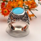 R0011 - RING WITH NATURAL BLUE TURQUOISE (FREE SHIPPING)