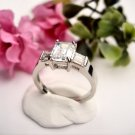 R0024 - RING WITH CLEAR CUBIC ZIRCONIA AND BAGUETTES (FREE SHIPPING)
