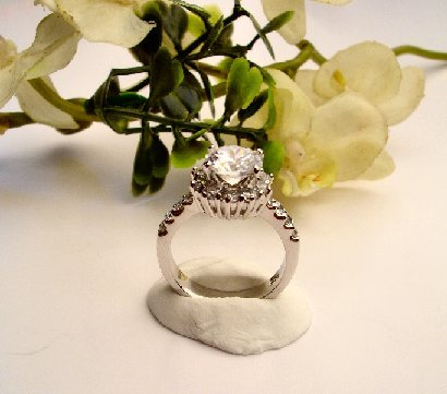 R0046 - RING CLEAR CUBIC ZIRCONIA (FREE SHIPPING)