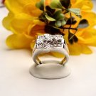R0058 - RING MAN'S WITH CLEAR CUBIC ZIRCONIA (FREE SHIPPING)